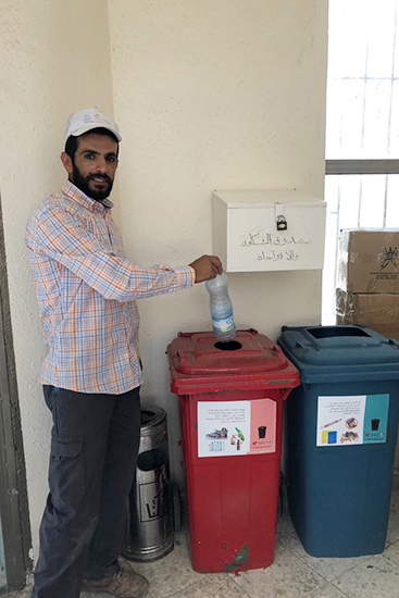 To let Asira resident get familiar with the project we installed sample boxes at Asira municipality with stickers carrying instructions