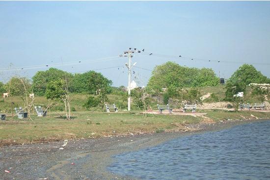 ジャフナタウン近くに新しくできた海岸沿いの公園