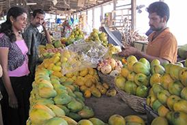 市場のフルーツ屋さん