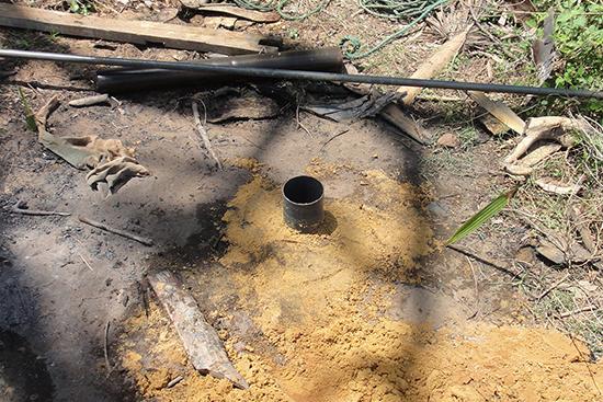 チューブ井戸の穴が完成しました