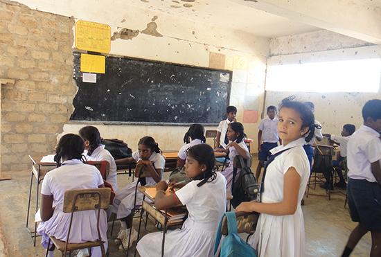 プドゥクディルプR.C.校の教室風景