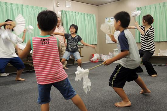難しい動きも多く、練習中は子どもたちの悔し涙もあった。