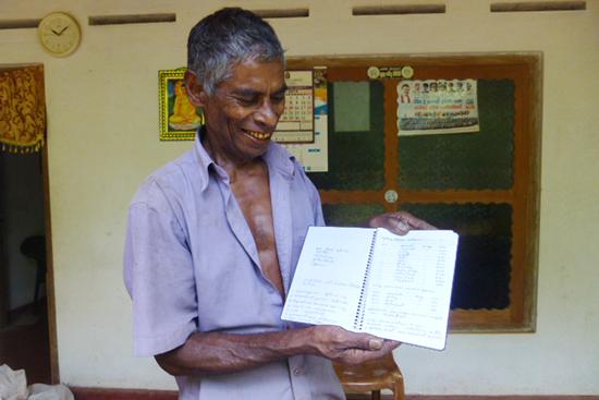 自分でちゃんと記録をとっているグナパーラさんのノート。みんな見習ってほしいです。。。。