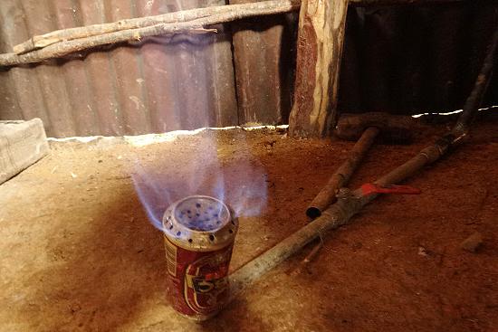 原料投入後約1ヶ月で、ガスが発生し、調理に利用することが出来る