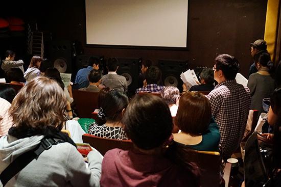 会場の様子。予想外の人数に立ち見席が出るほどでした。