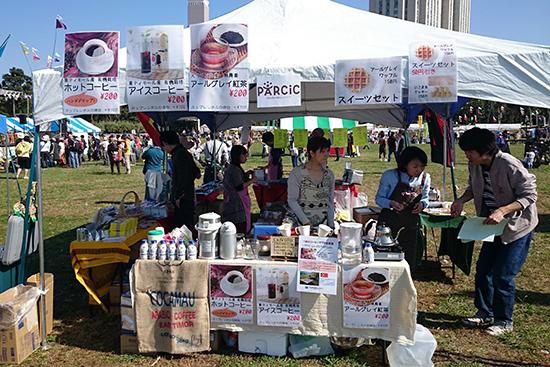 パルシックブースではコーヒー・紅茶の飲食販売も行いました