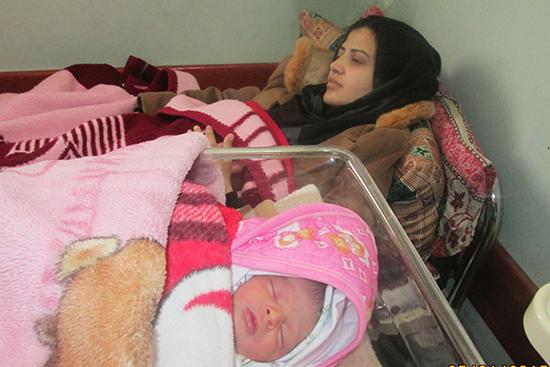 配布の医薬品がお産に間に合い生まれた赤ん坊
