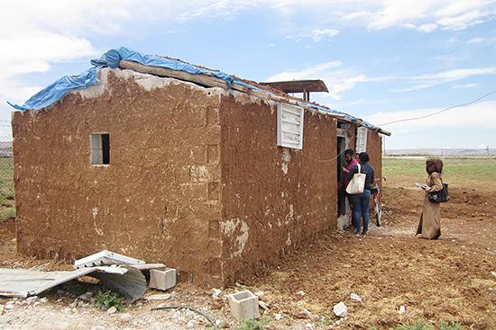 シリア人世帯の暮らす家屋
