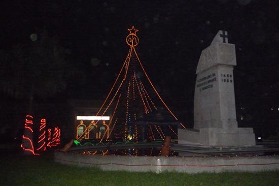 政府庁舎のクリスマスツリー