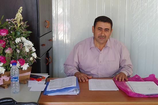 インタビューに答えて下さったマージッドさん。シリアで20年以上教育の仕事をされていた。