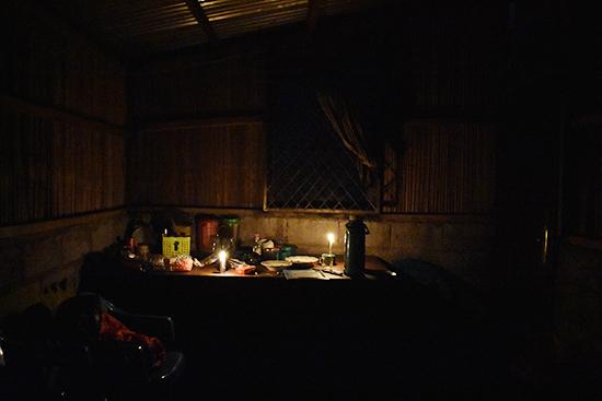 停電時のキッチン