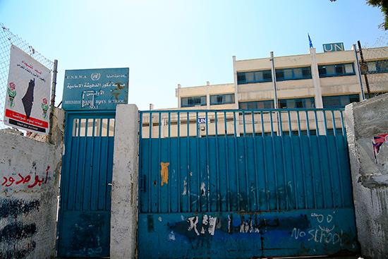 ベツレヘムのUNRWAドゥヘイシャ難民キャンプ