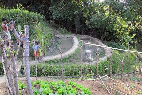 二年次に造った灌漑用のため池