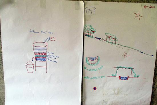 ワークショップでエゴ・レモスさんが説明のために描いた絵