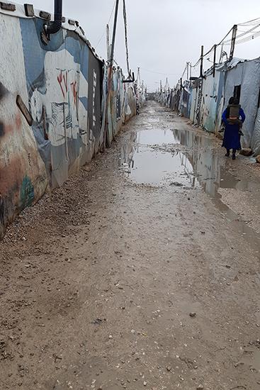 カーリッドさんが暮らすユーセフ難民キャンプの様子。