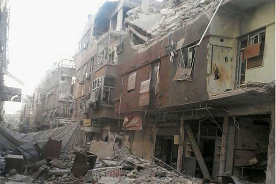 シリア国内の活動地、ヤルムーク難民キャンプ