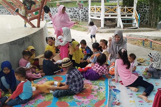 合同研修会場で行った子供の居場所活動の様子
